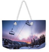 Chairlift Sunset Weekender Tote Bag