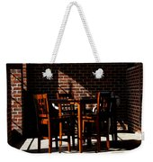 Chairs And Shadows Weekender Tote Bag
