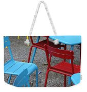 Chairs In Bryant Park Weekender Tote Bag by Lauri Novak