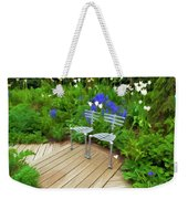 Chairs In The Garden Weekender Tote Bag