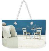 Chairs Of Santorini Weekender Tote Bag