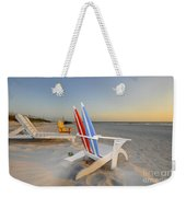Chairs On The Beach Weekender Tote Bag