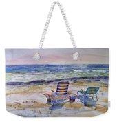 Chairs On The Beach Weekender Tote Bag