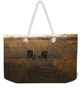 Chairs Overlook A Scenic Pasture Weekender Tote Bag