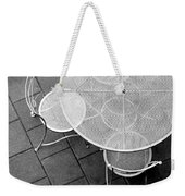 Chairs With Table Weekender Tote Bag