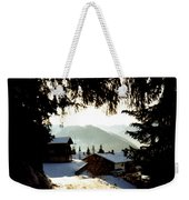 Chalet Through The Trees Weekender Tote Bag