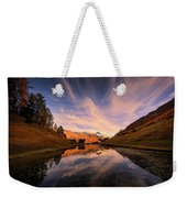 Chalet With An Autumn View Weekender Tote Bag