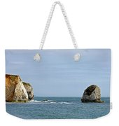 Chalk Cliffs At Freshwater Bay Weekender Tote Bag