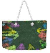 Chalk Drawing Colorful Arrows Weekender Tote Bag