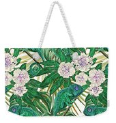 Chameleons And Camellias  Weekender Tote Bag
