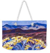 Chamisa And Mountains Of Santa Fe Weekender Tote Bag