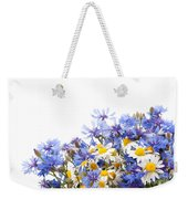 Chamomile And Cornflower Mix Weekender Tote Bag