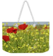 Chamomile And Poppy Flowers Meadow Weekender Tote Bag