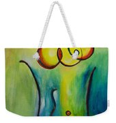 Champagne Weekender Tote Bag by Donna Blackhall