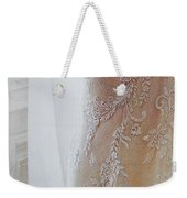 Champagne Lace Weekender Tote Bag