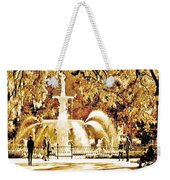 Champagne Twilight Forsyth Park Fountain In Savannah Georgia Usa  Weekender Tote Bag