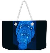 Chandelier In Blue 1 Weekender Tote Bag