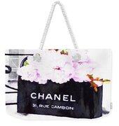 Chanel Bag With Peony  Weekender Tote Bag