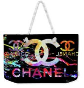 Chanel Black Weekender Tote Bag