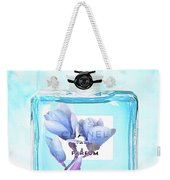 Chanel Blue Flower 3 Weekender Tote Bag