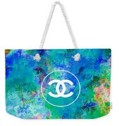 Chanel Blue White Red Black 10 Weekender Tote Bag