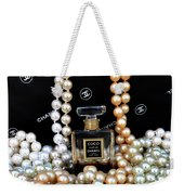 Chanel Coco With Pearls Weekender Tote Bag