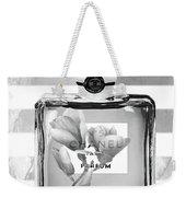 Chanel Flower Grey Weekender Tote Bag