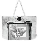 Chanel Grey Flower Weekender Tote Bag