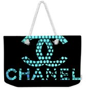 Chanel Light Blue Points Weekender Tote Bag
