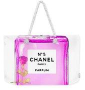 Chanel N 5 Perfume Print Weekender Tote Bag