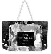 Chanel No. 5 Dark Weekender Tote Bag