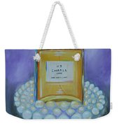 Chanel No 5 With Pearls Painting Weekender Tote Bag