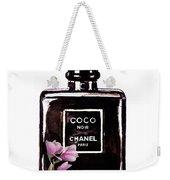 Chanel Noir Magnolia Pink Weekender Tote Bag
