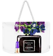 Chanel Noir Perfume Bottle Weekender Tote Bag