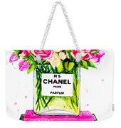 Chanel Nr 5 Flowers With  Perfume Weekender Tote Bag