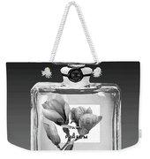 Chanel Perfume Black Flower Weekender Tote Bag
