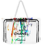 Chanel No. 5 White Weekender Tote Bag