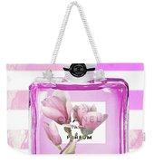Chanel Pink Flower 5 Weekender Tote Bag