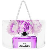 Chanel Print Chanel Poster Chanel Peony Flower Weekender Tote Bag