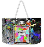 Chanel Rainbow Colors Weekender Tote Bag