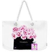 Chanel With Flowers Weekender Tote Bag
