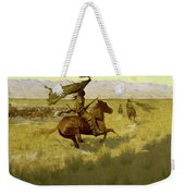 Change Of Ownership -the Stampede Horse Thieves Weekender Tote Bag