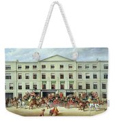 Changing Horses Outside The Plough Inn Weekender Tote Bag