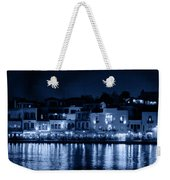 Chania By Night In Blue Weekender Tote Bag