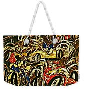 Chaos On The Track Weekender Tote Bag