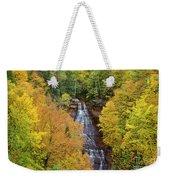 Chapel Falls Autumn Upper Peninsula Michigan Weekender Tote Bag