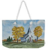 Chapel In Fall Weekender Tote Bag