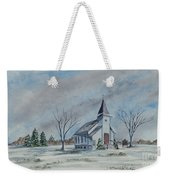 Chapel In Winter Weekender Tote Bag