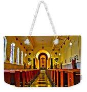 Chapel Interior I Weekender Tote Bag