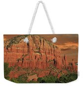 Chapel Of The Holy Cross At Sunset Weekender Tote Bag